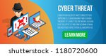 cyber threat concept banner....   Shutterstock .eps vector #1180720600