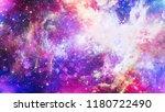 fiery explosion in space.... | Shutterstock . vector #1180722490