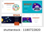 flat space websites set with... | Shutterstock .eps vector #1180722820