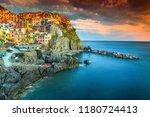 amazing colorful mediterranean...   Shutterstock . vector #1180724413