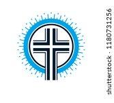 christian cross true belief in... | Shutterstock .eps vector #1180731256