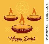 deepavali celebration ... | Shutterstock .eps vector #1180732276
