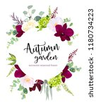 luxury fall flowers vector... | Shutterstock .eps vector #1180734223
