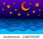 beautiful night seascape in...   Shutterstock .eps vector #1180735339