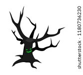 scary tree icon. isometric of... | Shutterstock .eps vector #1180736230