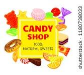 lollipop candy shop concept...   Shutterstock .eps vector #1180738033