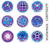 3d vector digital wireframe... | Shutterstock .eps vector #1180743379