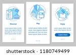 online shopping onboarding... | Shutterstock .eps vector #1180749499