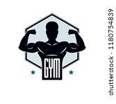 gym weightlifting and fitness... | Shutterstock .eps vector #1180754839