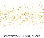 gold glossy confetti flying on... | Shutterstock .eps vector #1180766206