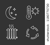 air conditioning chalk icons... | Shutterstock .eps vector #1180770730