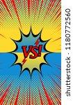 comic duel explosive concept... | Shutterstock .eps vector #1180772560