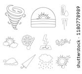 different weather outline icons ... | Shutterstock .eps vector #1180778989