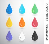 contrast drops with blur on... | Shutterstock .eps vector #1180780270
