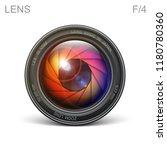 set camera lens object glass... | Shutterstock .eps vector #1180780360