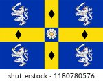 flag of durham is a county in... | Shutterstock .eps vector #1180780576