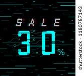 sale banner 30 per cent off.... | Shutterstock .eps vector #1180787143