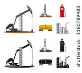 vector illustration of oil and... | Shutterstock .eps vector #1180789483