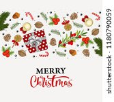 merry christmas hand drawn... | Shutterstock .eps vector #1180790059