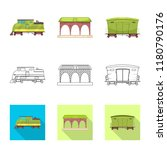 isolated object of train and...   Shutterstock .eps vector #1180790176