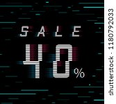 sale banner 40 per cent off.... | Shutterstock .eps vector #1180792033
