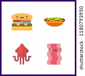 gourmet icon. squid and... | Shutterstock .eps vector #1180793950