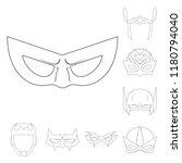 vector design of hero and mask... | Shutterstock .eps vector #1180794040