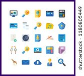 25 laptop icon. vector... | Shutterstock .eps vector #1180805449