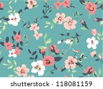 seamless cute vintage tiny... | Shutterstock .eps vector #118081159