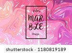 marble ink painted monochrome... | Shutterstock .eps vector #1180819189
