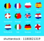flags different countries in... | Shutterstock .eps vector #1180821319