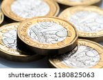 new british one pound coin in... | Shutterstock . vector #1180825063