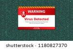 virus detected  alert message.... | Shutterstock .eps vector #1180827370