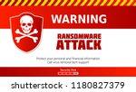 ransomware virus  warning of... | Shutterstock .eps vector #1180827379