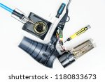 hairdryer in a disassembled... | Shutterstock . vector #1180833673