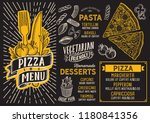 pizza menu template for... | Shutterstock .eps vector #1180841356