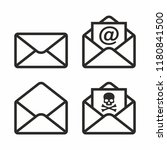 mail vector icon set | Shutterstock .eps vector #1180841500