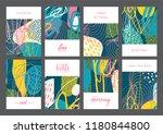 set of creative universal... | Shutterstock .eps vector #1180844800