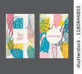 set of creative universal... | Shutterstock .eps vector #1180844803