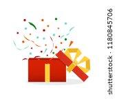 delight present. surprise... | Shutterstock .eps vector #1180845706