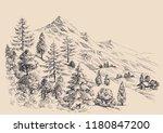 mountain panorama  alpine...   Shutterstock .eps vector #1180847200