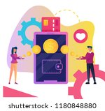 two people man and woman... | Shutterstock .eps vector #1180848880