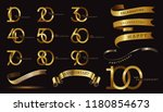 set of anniversary logotype and ... | Shutterstock .eps vector #1180854673