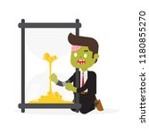 zombie office businessman... | Shutterstock .eps vector #1180855270