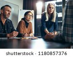 group of business people... | Shutterstock . vector #1180857376