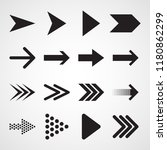 set of black arrows. vector... | Shutterstock .eps vector #1180862299