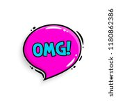 omg concept. comic speech... | Shutterstock .eps vector #1180862386