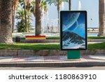 outdoor billboard advertisement ... | Shutterstock . vector #1180863910