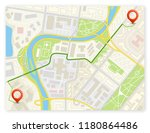 city map navigation route ... | Shutterstock .eps vector #1180864486