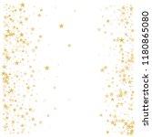 gold flying stars confetti... | Shutterstock .eps vector #1180865080